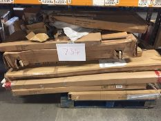 1 X BULK PALLET TO CONTAIN AN ASSORTMENT OF GRADE C AND D FURNITURE AND BED PART LOTS / SETS MAY