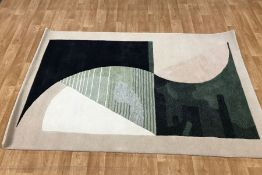 LA REDOUTE MICHELLE COLLINS STYLE HAND TUFFED RUG / SIZE: 150 X 230M