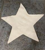 LA REDOUTE ESTEA STAR-SHAPED CHILD'S RUG, SIZE 100X100CM