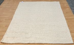 LA REDOUTE DIANO PURE WOOL KNIT EFFECT RUG / SIZE 200X290CM