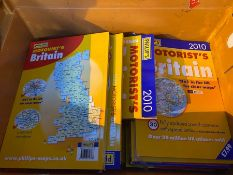 1 X TOTE TO CONTAIN APPROX 30 COPIES OF PHILIPS' MOTORISTS BRITAIN BOOK / ATLASES - MINT CONDITION