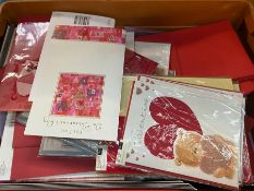 1 X TOTE TO CONTAIN AN ASSORTMENT OF VALENTINES'S CARDS WITH ENVELOPES ENCLOSED