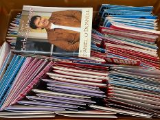 """1 TOTE TO CONTAIN APPROX 80 CELEBRITY / NOVELTY """"TALKIE """" BIRTHDAY CARDS & ENVELOPES / SOME CARDS"""