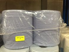 1 LOT TO CONTAIN A PACK OF 4 TEX 2 PLY BLUE TEXTURED TOILET ROLLS