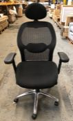 ALPHASON PORTLAND OFFICE CHAIR, IN BLACK