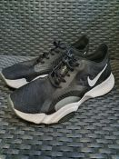 ONE PAIR OF NIKE SUPERREP GO TRAINERS IN BLACK - SIZE 7. RRP £85.00. GRADE B/C SEVERAL MARKS.