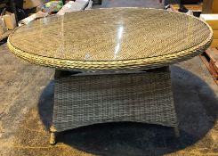 JOHN LEWIS RYE 6-SEAT ROUND GARDEN DINING TABLE