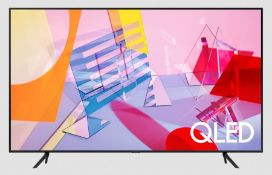 """SAMSUNG 65"""" QLED LED SMART TV - QE65Q60TAU / RRP £1099.99 / TESTED AND WORKING. NO POWER CABLE,"""