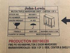 JOHN LEWIS WILTON TRIPLE WARDROBE