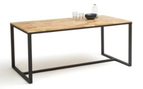 LA REDOUTE HIBA DINING TABLE IN OAK/STEEL