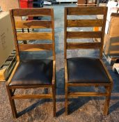 SET OF 2 ORIGEN SHEESHAM DINING CHAIRS / AS NEW