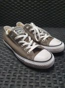 ONE PAIR OF CONVERSE CHUCK TAYLOR ALL STAR OX CANVAS LOW TOP TRAINERS IN CHARCOAL - SIZE UK 5.5. RRP