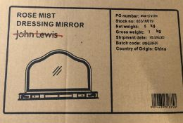 JOHN LEWIS ROSE MIST DRESSING TABLE MIRROR
