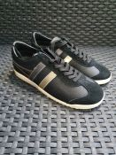 ONE PAIR OF GOLA BULLET PEARL TRAINERS IN SUEDE MIX IN BLACK - SIZE UK 4. RRP £65.00 GRADE A* - AS