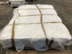 1 X DOUBLE SIZED POCKET SPRUNG MATTRESS (135 X 200CM) / CONDITION REPORT: DIRT STAINED ALONG ONE