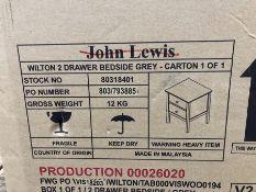 JOHN LEWIS WILTON 2 DRAWER BEDSIDE CABINET