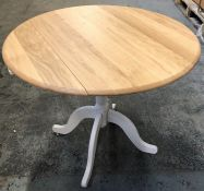 JOHN LEWIS CLAYTON 2-4 SEATER DROP LEAF DINING TABLE