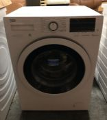 BEKO WASHING MACHINE - WY74042W / UNTESTED CUSTOMER RETURN. APPEARS UNUSED. INSTRUCTIONS PRESENT.