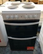 INDESIT 50CM TWIN CAVITY ELECTRIC COOKER - ID5E92KMW/UK / RRP £259.99 / CONDITION REPORT: UNTESTED