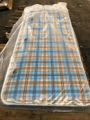1 X SMALL SINGLE SIZED COIL SPRING MATTRESS (75 X 190CM) / CONDITION REPORT: NO VISIBLE