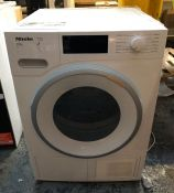 MIELE TUMBLE DRYER - TWH620WP / CONDITION REPORT: UNTESTED CUSTOMER RETURN. USED. GENERAL COSMETIC