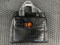 1 X LA REDOUTE REPTILE PATTERN HAND BAG / RRP £35.00