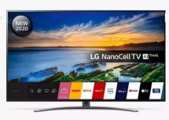 "LG 55"" LED NANOCELL HDR 4K ULTRA HD SMART TV - 55NANO866NA / RRP £699.00 / TESTED AND WORKING."