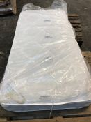 1 X SINGLE SIZED JULIAN BOWEN COIL SPRING MATTRESS (90 X 190CM) / CONDITION REPORT: DIRT STAINED