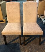 SET OF 2 JD WILLIAMS AVA CHENILLE CHAIRS / AS NEW, BOXED