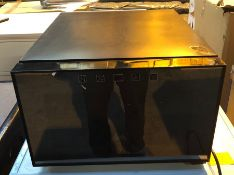 OVATION 8 BOTTLE HORIZONTAL WIN FRIDGE - HT700 / UNTESTED. LIGHT SCRATCHES ON SURFACE. NO OTHER