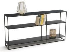 LA REDOUTE HIBA LOW STEEL DUAL-FUNCTION BOOKSHELF