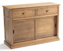LA REDOUTE LUNJA DOUBLE SIDEBOARD WITH 2 DRAWERS & 2 CUPBOARDS