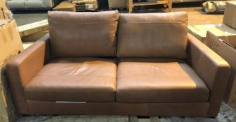 JOHN LEWIS BAILEY MEDIUM 2 SEATER LEATHER SOFA