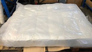 1 X KING SIZED MATTRESS (150 X 200CM) / CONDITION REPORT: DIRT ON ONE CORNER OF THE MATTRESS, NO