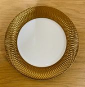 6 x PRINCESS GOLD DINNER PLATES 22CM BY AULICA