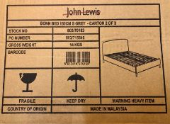 HOUSE BY JOHN LEWIS BONN UPHOLSTERED KING SIZE BED FRAME
