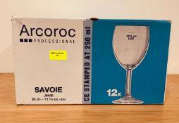 12 x ARCOROC SAVOIE WINES GLASSES 250ML