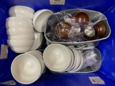 ONE LOT TO CONTAIN ASSORTED CHURCHILL CHINA