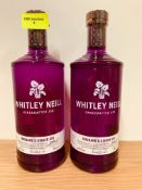 2 x WHITLEY NEILL RHUBARD & GINGER RUM 70CL