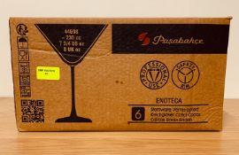 6 x PASABACHE ENOTECA MARTINI GLASSES 22CL