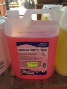 1 LOT TO CONTAIN 1 X ZENITH LIMESCALE REMOVER 10A 5L BOTTLE