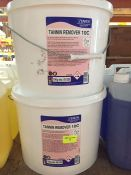 1 LOT TO CONTAIN 2 X ZENITH TANNIN REMOVER 10C 10KG TUBS