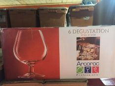 1 LOT TO CONTAIN A BOX OF 6 X DEGUSTATION BRANDY GLASSES 25CL