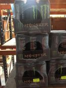 1 LOT TO CONTAIN 3 X PACKS OF 12 MONSTER ORIGINAL ENERGY CANS 500ML / BB 31 DEC 2020 - L5