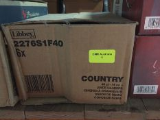 1 LOT TO CONTAIN A BOX OF 4 X COUNTRY JUICE GLASSES 40CL