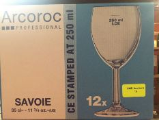 1 LOT TO CONTAIN A BOX OF 12 X ARCOROC PROFESSIONAL WINE GLASSES 35CL
