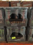 1 LOT TO CONTAIN 2 X PACKS OF 12 MONSTER ORIGINAL ENERGY CANS 500ML / BB 31 DEC 2020 - L5