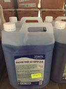 1 LOT TO CONTAIN 2 X ZENITH MACHINE RINSE AID SUPER 2A 5L BOTTLES