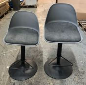 2 x HOUSE BY JOHN LEWIS WHISTLER GAS LIFT ADJUSTABLE BAR STOOLS