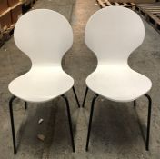 2 x HOUSE BY JOHN LEWIS CRESCENT DINING CHAIRS